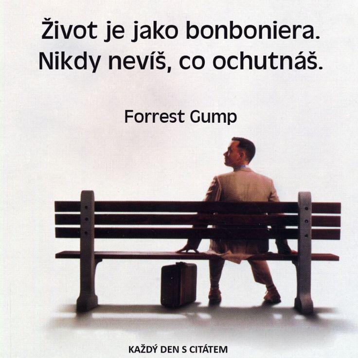 Život je jako bonboniera. Nikdy nevíš, co ochutnáš.  Forrest Gump citáty o životě