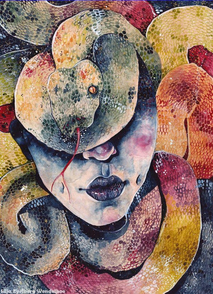 """""""Snakes in my Head"""" by SiljaVich on deviantART."""