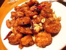 KUNG PAO SHRIMP  P.F. Chang's China Bistro Copycat Recipe   1/2 teaspoon minced garlic  3 ounces Kung Pao sauce  1/2 teaspoon crushed r...