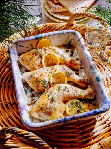 Cuisse de poulet au citron et aux herbes (rapide) : Recette de Cuisse de poulet au citron et aux herbes (rapide) - Marmiton