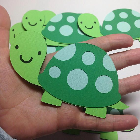 Turtle Die Cuts Paper Turtle Cut Outs Pond Friends Baby