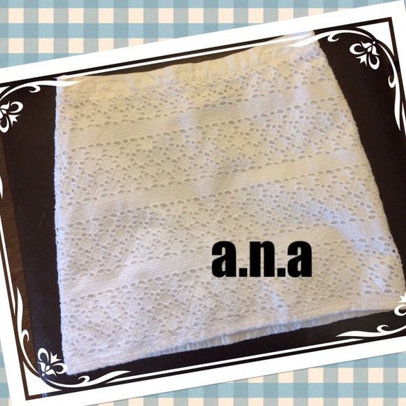 ☀️⛱a.n.a 100% cotton eyelet skirt a.n.a white cotton eyelet skirt. So cute and cool for summer. Gently used but in great shape. Please contact me with any questions. Thanks for peeking into my closet!! a.n.a Skirts