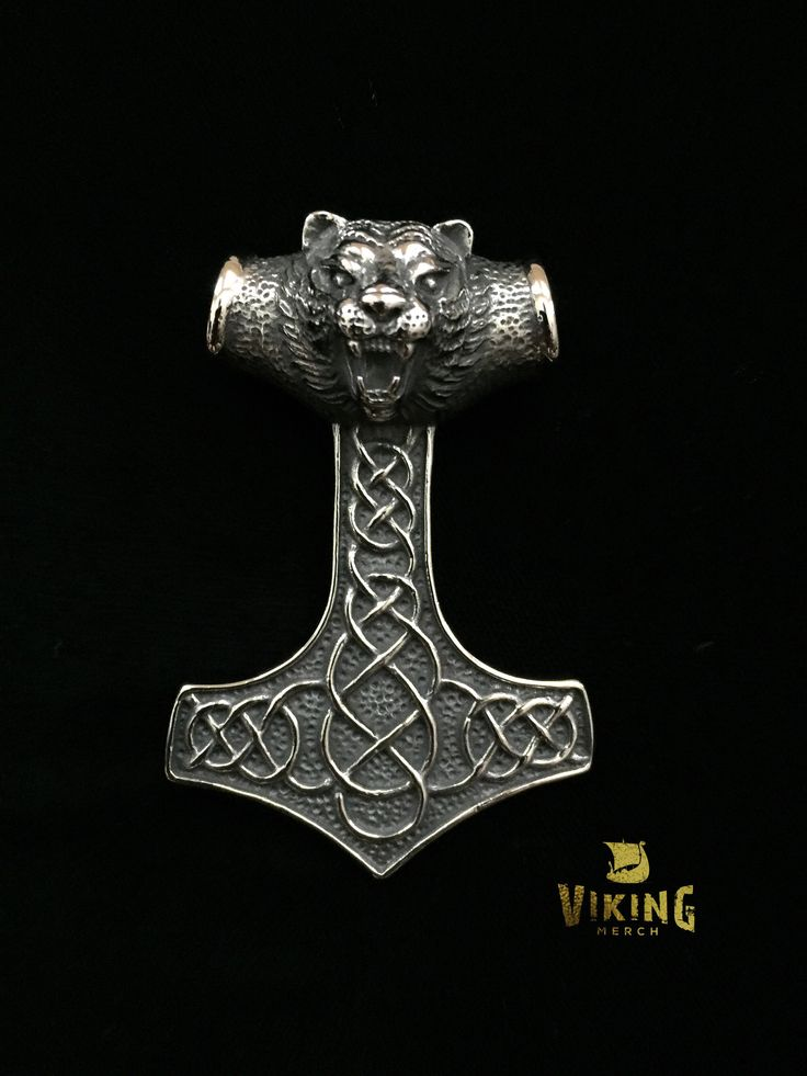 """This HUGE Viking Tiger Thor's Hammer is made out of the highest quality stainless steel that will never wear or tarnish. This Thor Hammer is massive and will last a lifetime. Measurements: 3.1"""" x 2.17"""