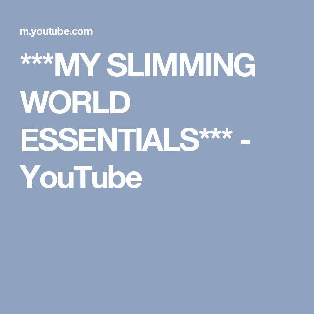 ***MY SLIMMING WORLD ESSENTIALS*** - YouTube