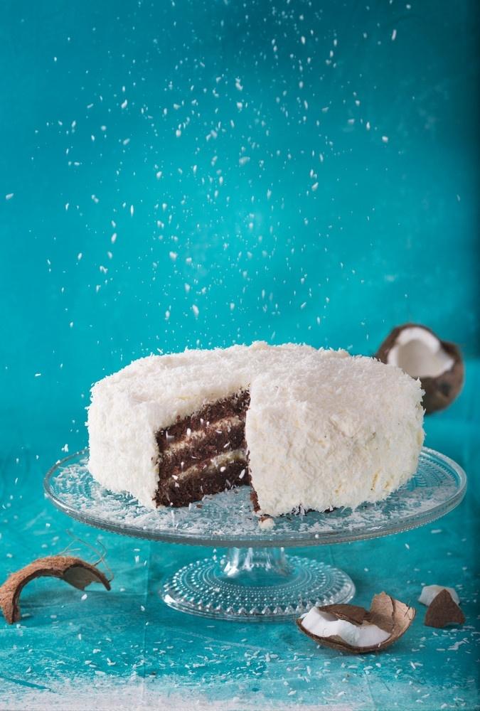 Suklaa-kookoskakku | Täytekakut | Pirkka #cakes