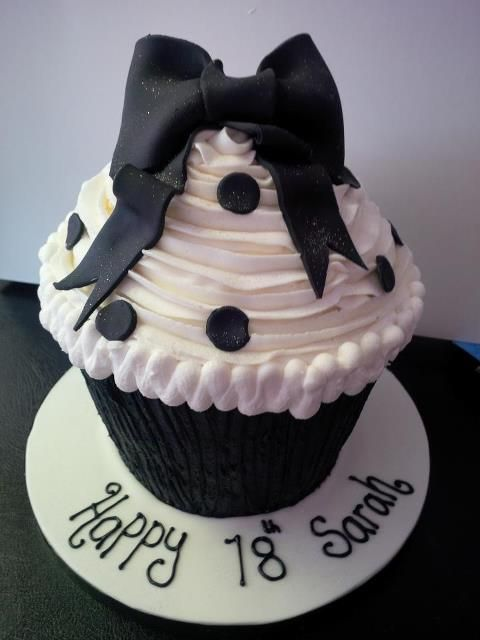 black and white giantcupcake                                                                                                                                                                                 More