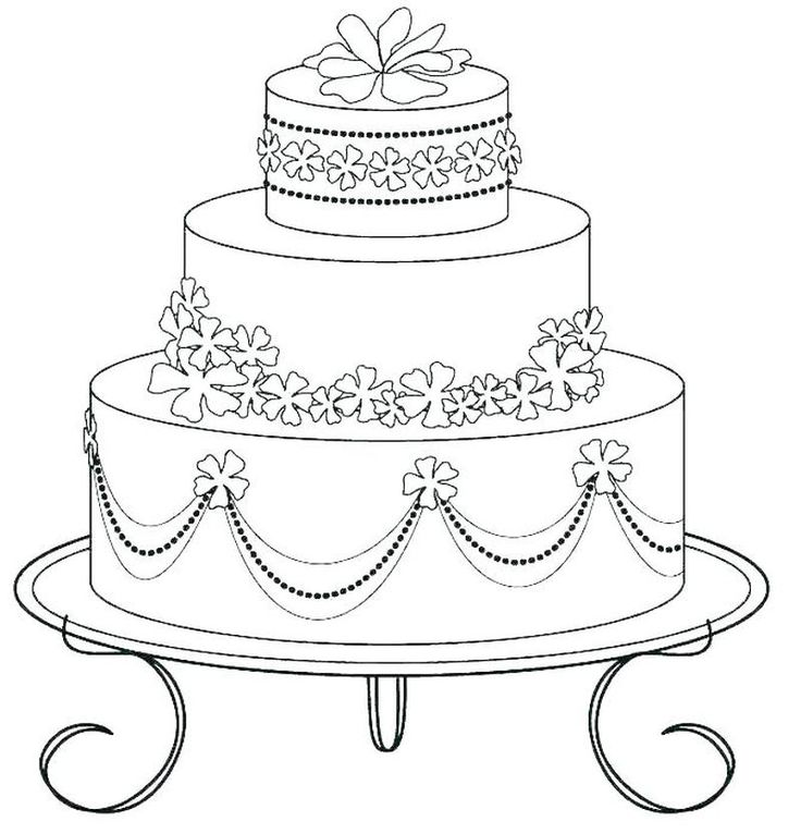 Birthday Cake Coloring Page Printable. Here is a free