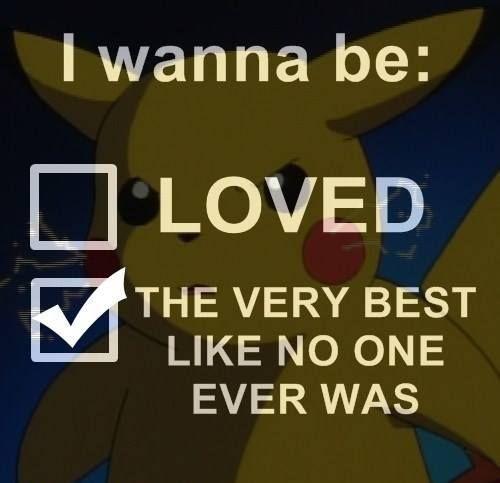 I wanna be: