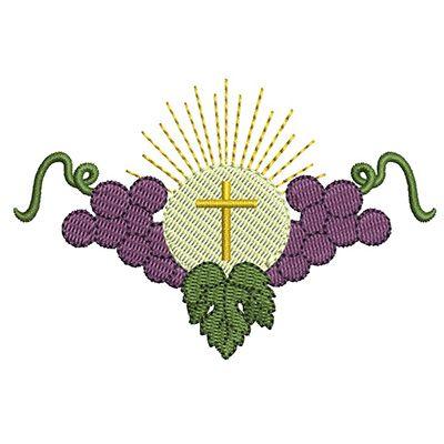 HÓSTIA CONSAGRADA COM UVAS