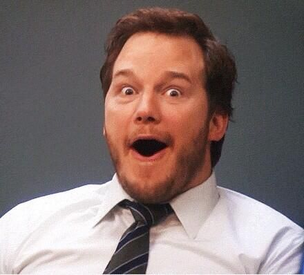 Chris Pratt as Andy Dwyer. #mancrush