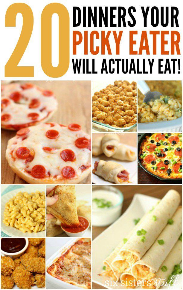 20 Dinners Your Picky Eater Will Actually Eat (AND LOVE)! | SixSistersStuff.com  SCROLL DOWN!