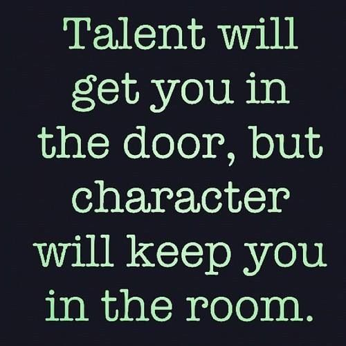 This could not be any more true. Sure you have what it takes to be in the position you are in... But if you sit and wonder why you aren't progressing or advancing, maybe you need to check your attitude.