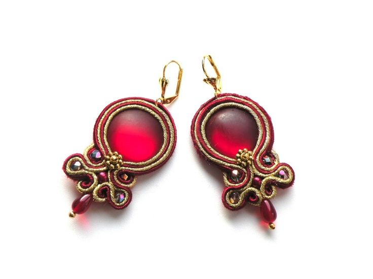 Red Wine  - soutache de Bajobongo