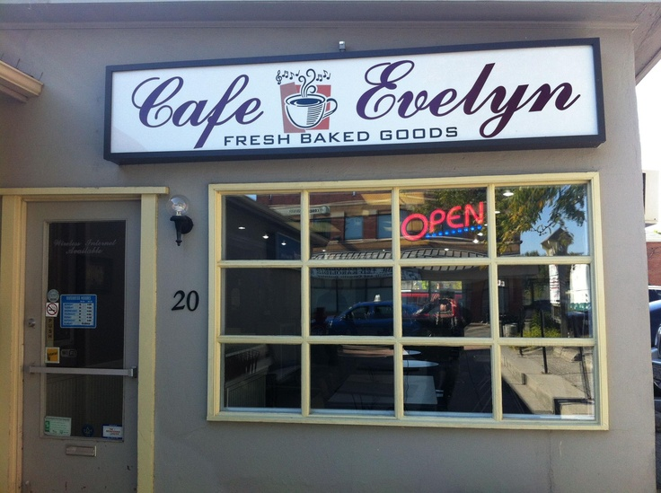 Discover Cafe' Evelyn – Fresh baked Goods – ask Janet to make you a warm muffin and grab one of their massive cookies – She named the Cafe after Mother. Building has History! small town feel. 20 Martin St.