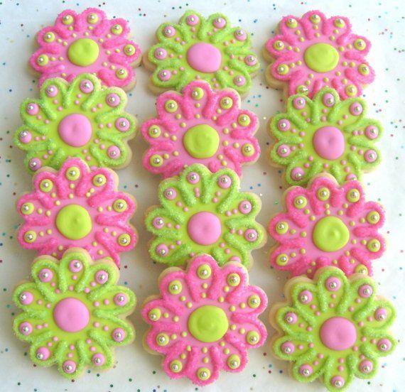 SPARKLE FLOWERS - Flower Cookie Favors