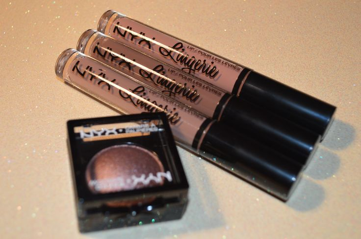 #NYX Lingerie Liquid Lips & Baked Shadow #Swatches
