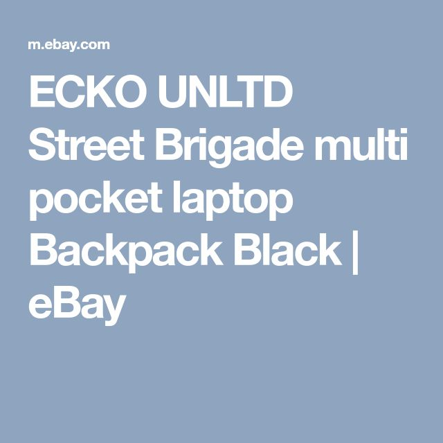 ECKO UNLTD Street Brigade multi pocket laptop Backpack Black | eBay
