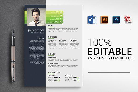 Creative Job CV Resume Word Job cv, Resume words and Business flyers