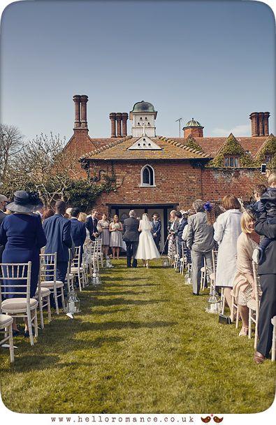 Outdoor wedding ceremony, Woodhall Manor, Suffolk - www.helloromance.co.uk