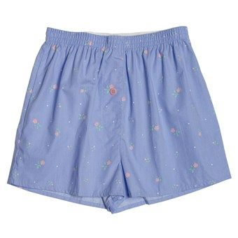 Donna Nicole Printed Boxer Shorts - Cotton Poplin (For Women)