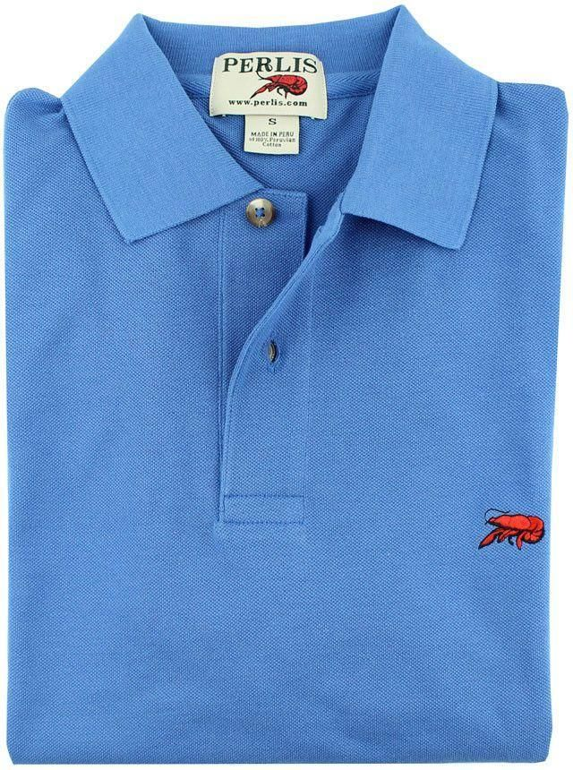 The Crawfish Polo in Royal Blue by Perlis - FINAL SALE