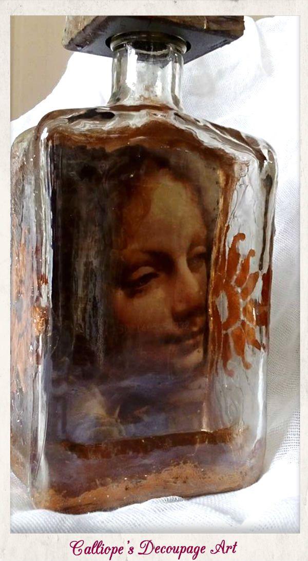 Μπουκάλια | Calliope's Decoupage Art