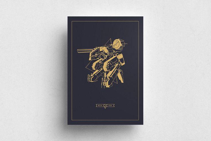 #Red #White #Poster #Print #Minimalism #Minimalist #Design #Graphic Design #Adrian #Iorga #Art #Wallart #Decoration #Fashion #Metal Gear Solid #Gaming #Kojima