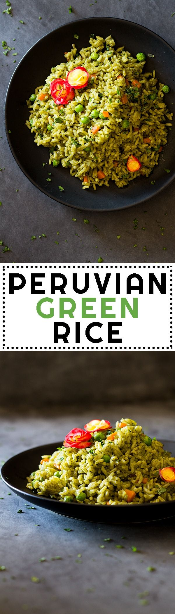 This Peruvian Green Rice is hands down the best side rice in the world! A bunch of coriander not only makes it green but extraordinarily nutritious and delicious! via @greenhealthycoo