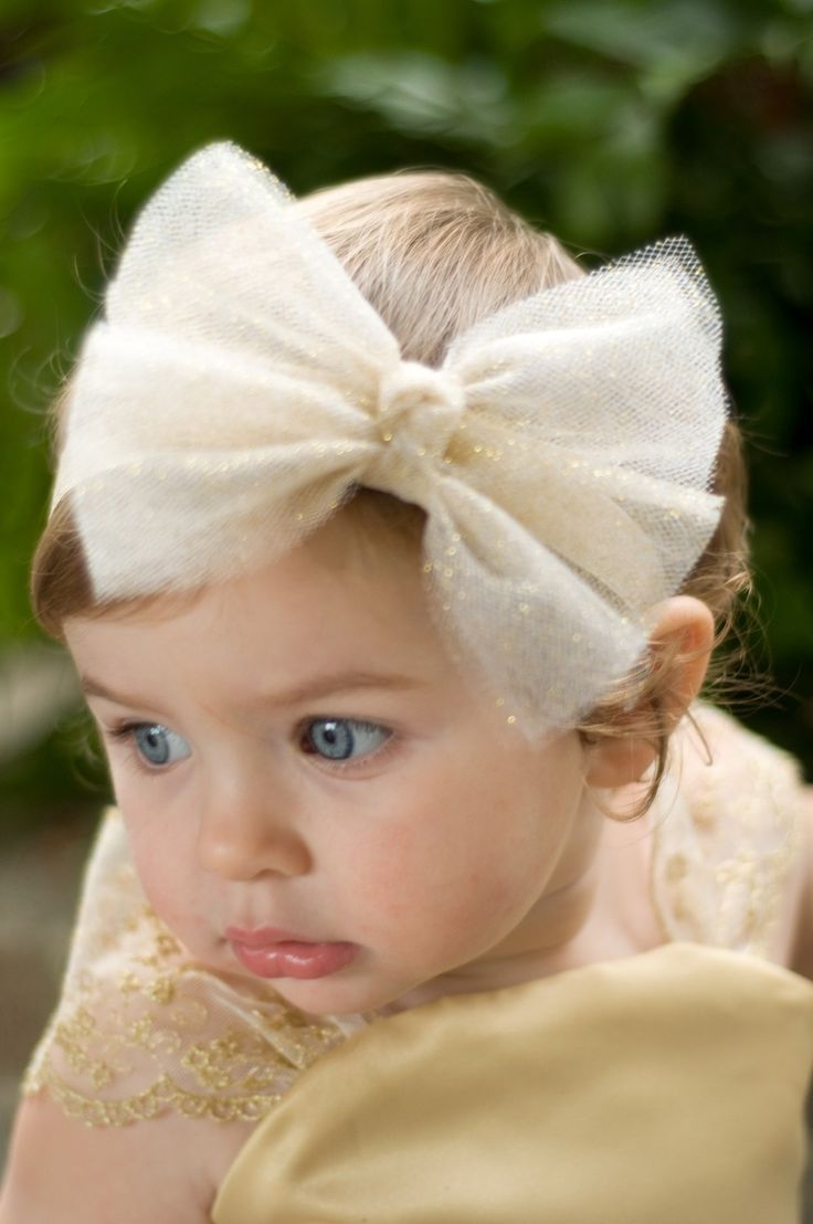 Glittering Tulle Bow Headband or Clip----Available in a Variety of Colors-----Perfect for WEDDINGS