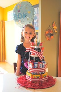 supply cake, teachers gift, craft