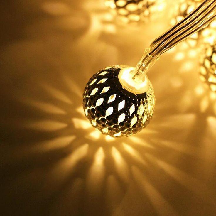 Tanbaby 2.5 см 20 LED Марокканские Струнные светильники Утюг Марокканском Orb Атмосферу Освещения в помещении декоративные праздник фея партия лампа 4 М