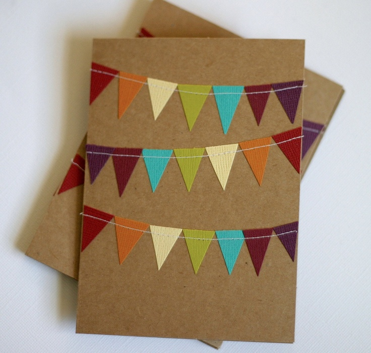 Stationery Notecards with Rainbow Bunting Flag. $5.99, via Etsy.