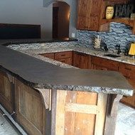 Stained Concrete Bar Top For The Kitchen