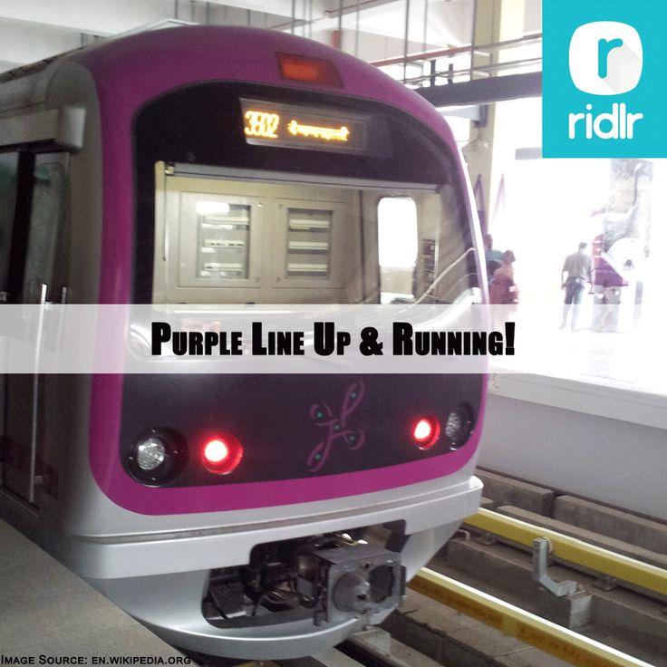 Bengaluru Joy! The commercial operation of the much-awaited Namma Metro's Purple Line between Magadi Road and Mysuru Road has begun. Hop On!