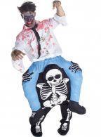 Disfraz de zombie a hombros de la muerte Carry Me