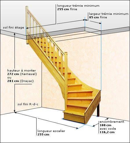Mesures projet escalier en 2019 escaliers interieur renovation escalier bois et escalier bois - Escalier bois interieur ...
