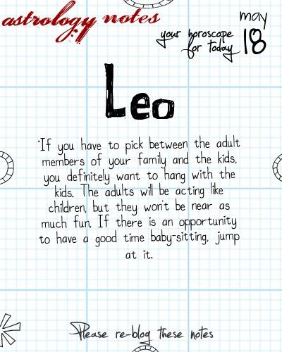 Leo Astrology Note: Not all horoscopes are created equal.  Visit iFate.com Astrology today!