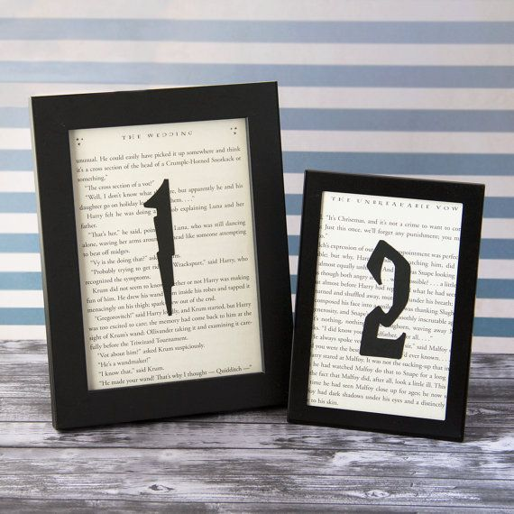 Harry Potter Wedding, Wedding Table Numbers, Choose Your Quantity, Book Themed Wedding, Book Table Numbers, Literary Wedding