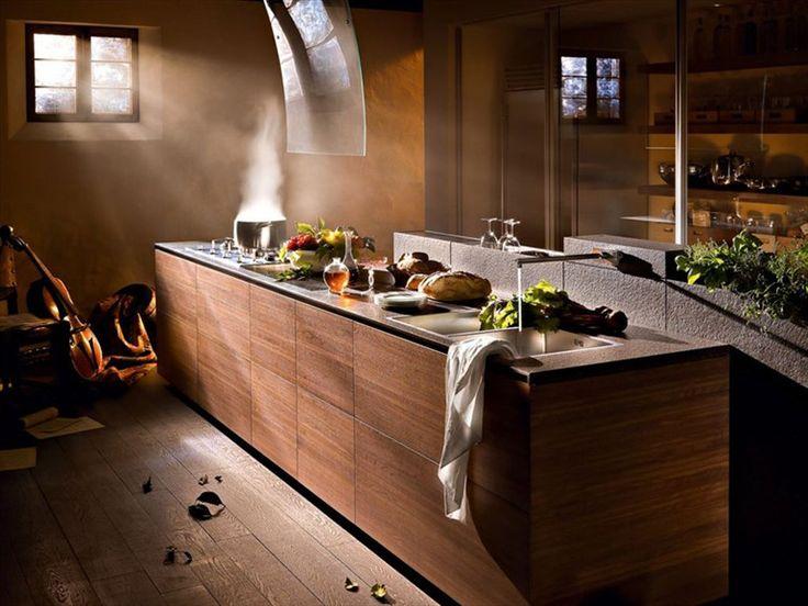 Wooden fitted kitchen ARTEMATICA WOOD Artematica Line by VALCUCINE | design Gabriele Centazzo