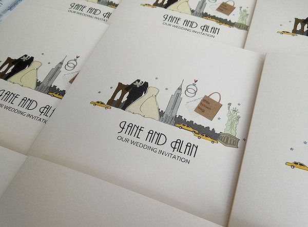 quirky wedding invites - Google Search