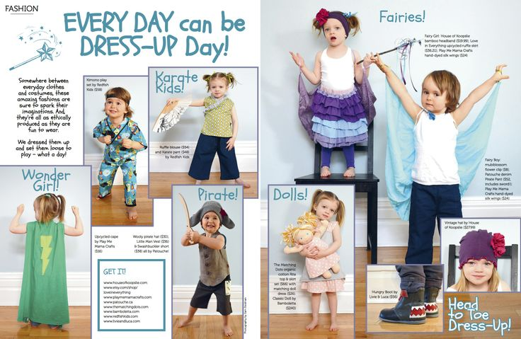 Everyday Dress-Up ft Redfish Kids in Eco Parent Magazine!