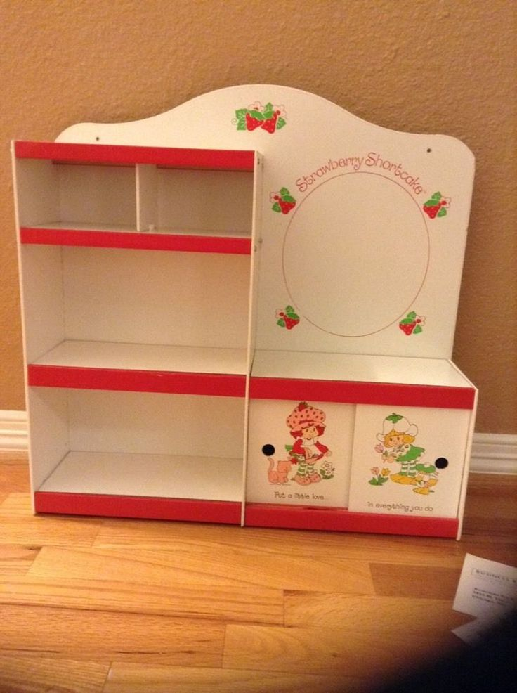 RARE Vintage Strawberry Shortcake Shadow Box Furniture Girl'S | eBay