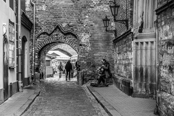 Streets of the old town. Riga