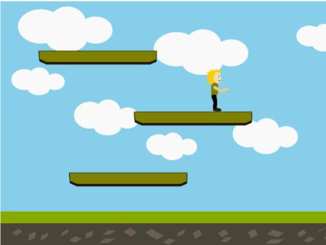 Example of the platformer game after implementing tutorial 6
