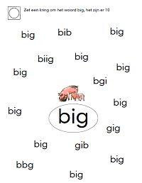 Zet een kring om het woord big