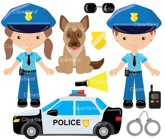 Set With Individual Transparent Png Files Png Format Meaning Transparent Background Each Image Is 300 Dpi Each Image Clip Art Police Police Officer Crafts