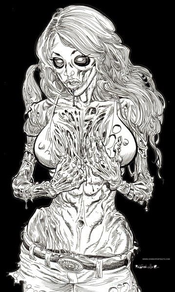 Zombie Pin Up - Zombie Artist Rob Sacchetto's Zombie Portraits
