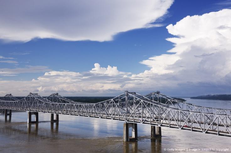 Vidalia Bridge over Mississippi River From Natchez, MS
