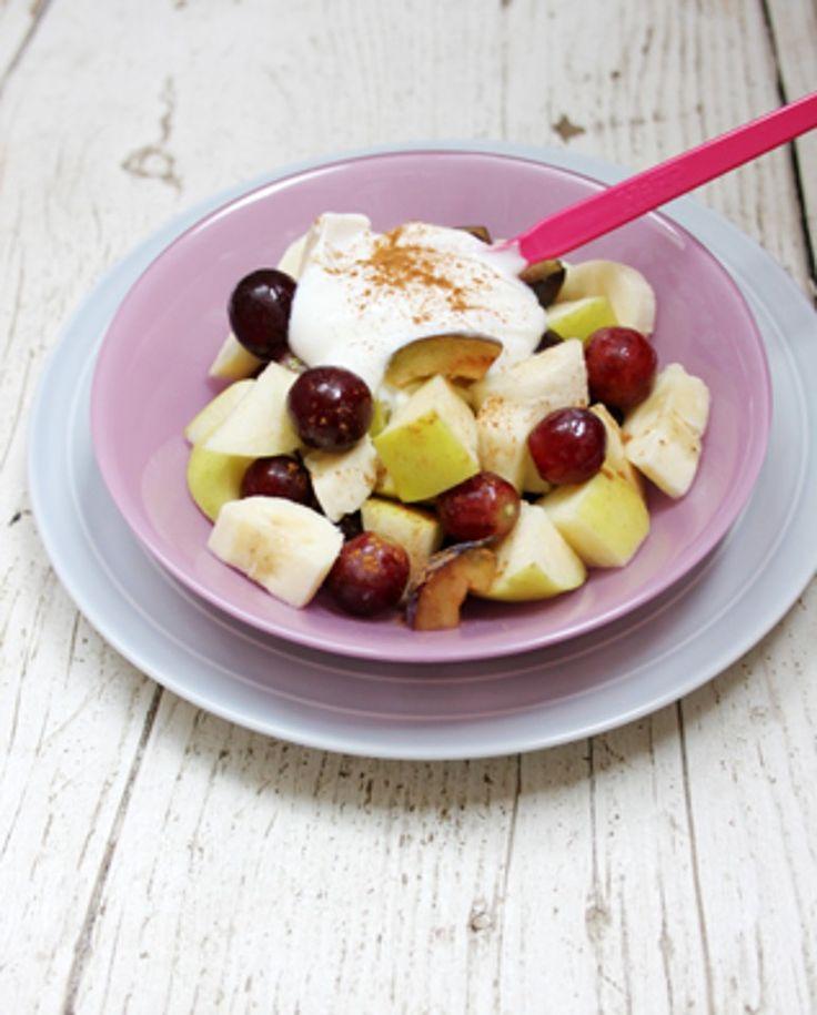Recepty pro děti: Ovocný salát s jogurtem