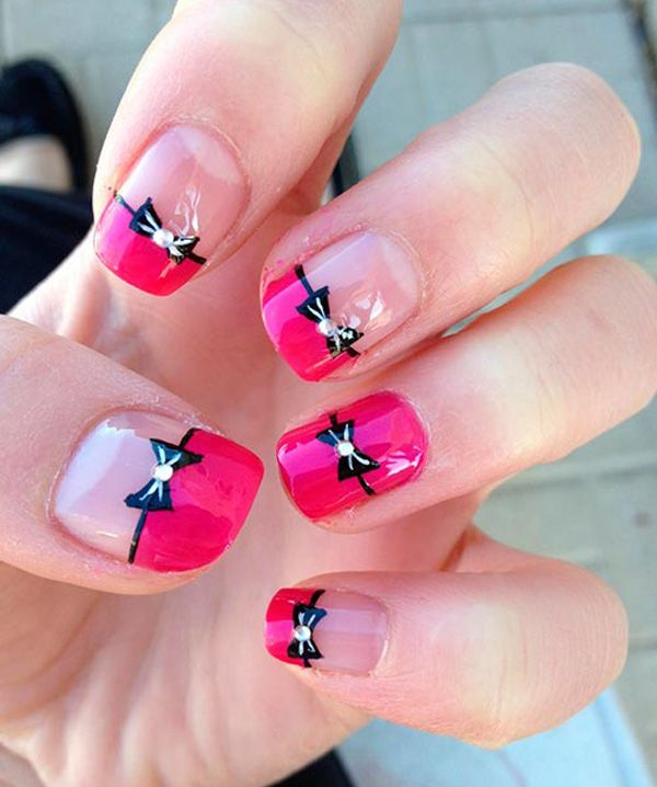 The 25 best bow nail designs ideas on pinterest xmas nail 50 cute bow nail designs prinsesfo Gallery